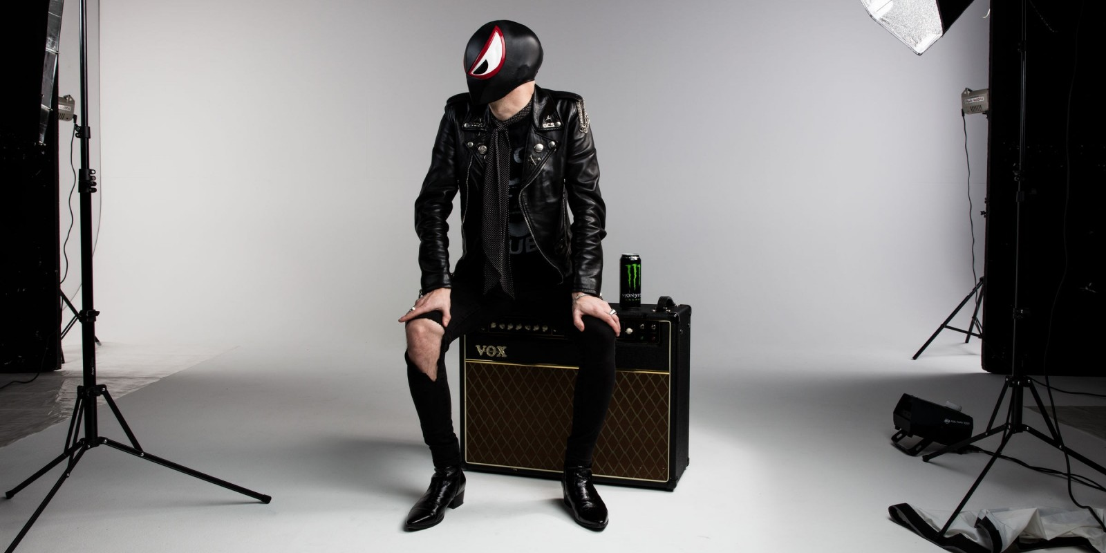 Behind the scenes images of The Bloody Beetroots.