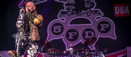 Five Finger Death Punch at the Rock on the Range in Columbus, Ohio.