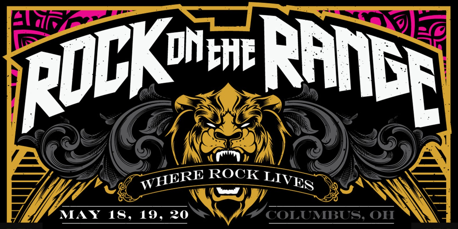 Rock On The Range hero and admat poster