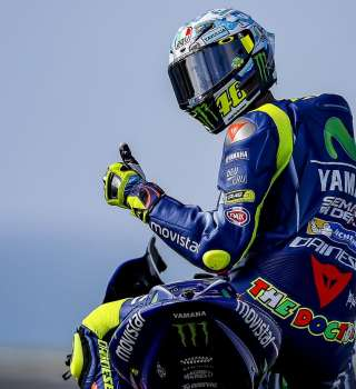 Valentino Rossi at the 2017 Phillip Island test