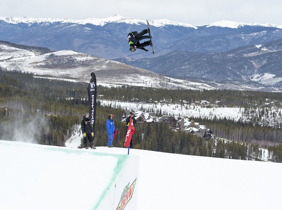 Max Parrot moves up a spot from his last year finish with a first place podium at the 2017 Dew Tour Men's Slopestyle final. Landing a clean run on his second try, Parrot posted a 97.00 and never looked back