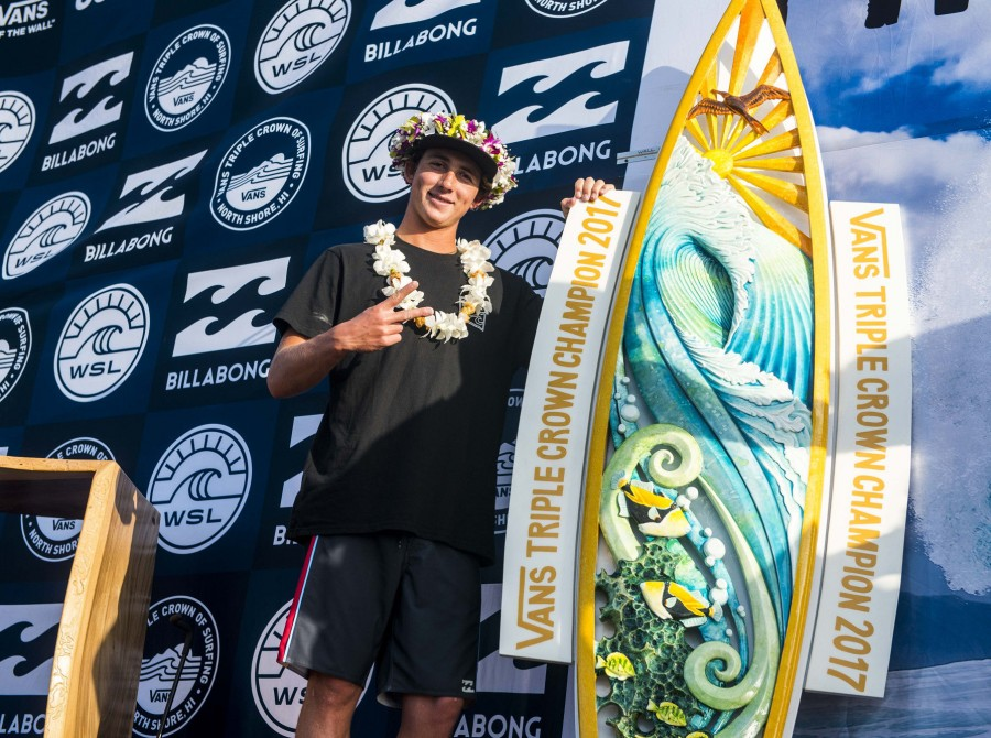 The Vans Triple Crown of Surfing is the world's premier series of professional surfing events that runs from November 12 through December 20 in the famous winter waves of Oahu's North Shore, Hawaii.