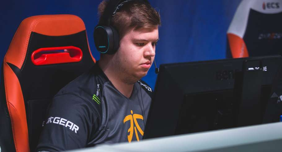 Photos of Fnatic's CSGO team at the ECS offline finals in London, UK.