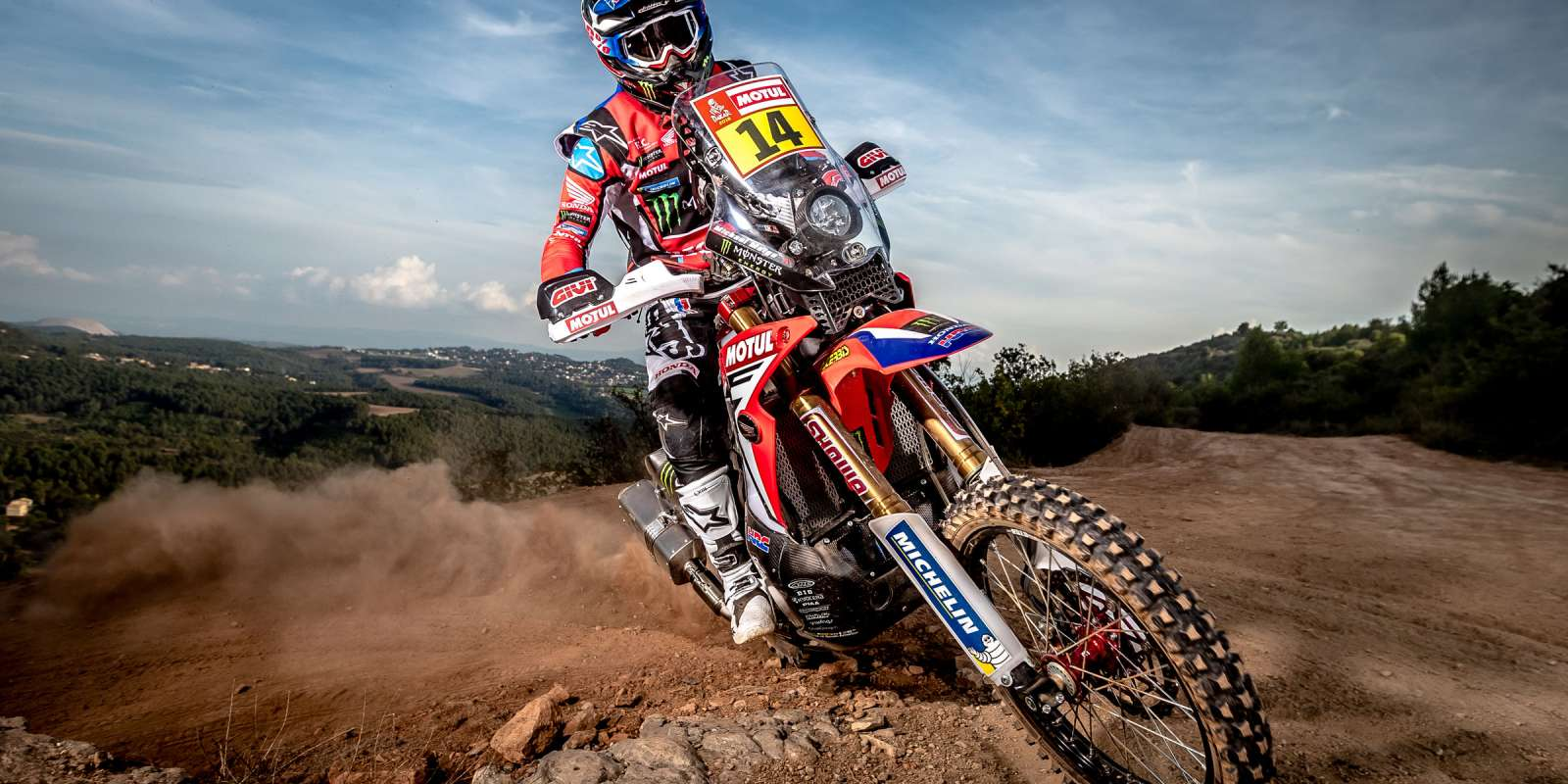 Michael Metge at the 2018 Dakar HRC Photoshoot