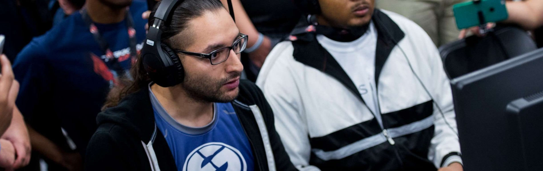 Photos of the Evil Geniuses Fighting Games players at EVO 2017 in Las Vegas, Nevada