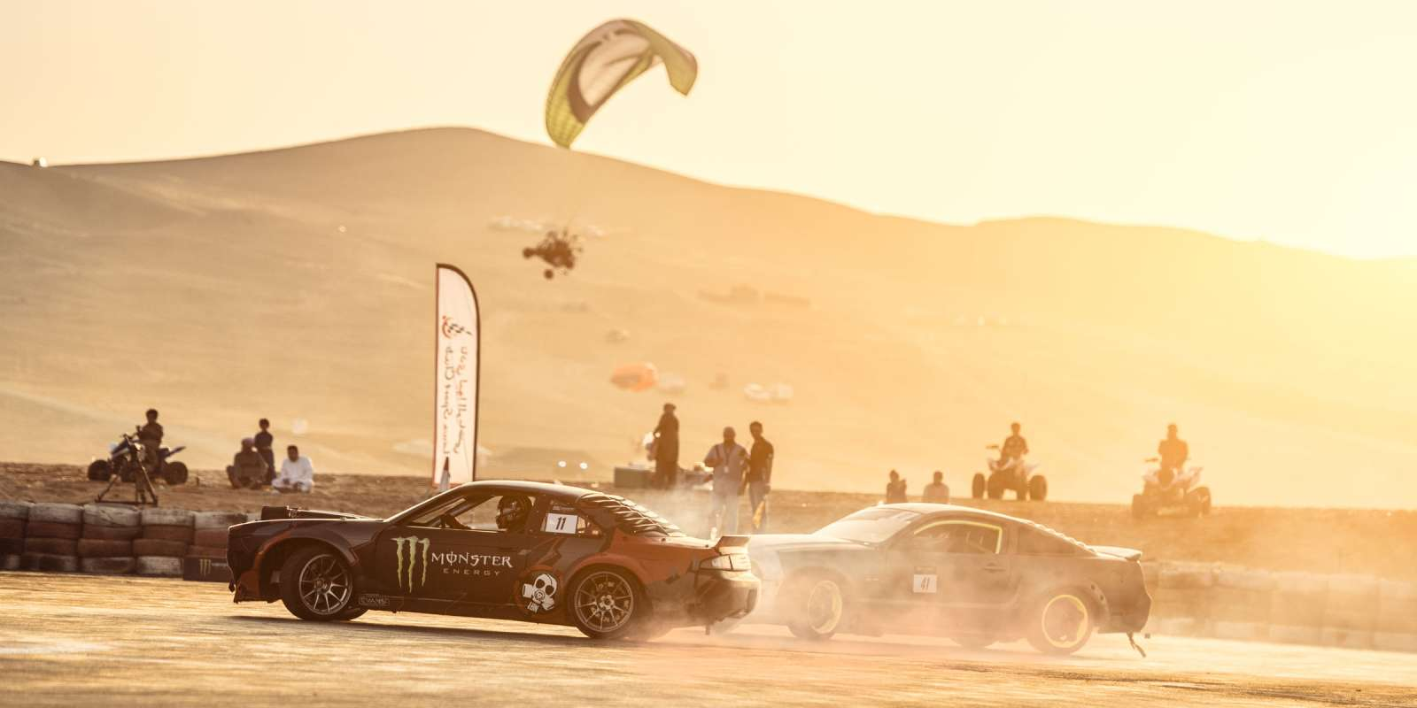 Newly formed, the most important driift event in the UAE. Monster sponsored the event and also drift crew, Lunatics who took the first place at EDC R1