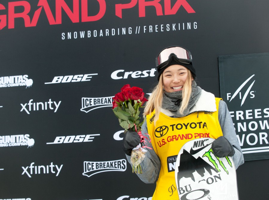 Chloe Kim wins Half Pipe Finals at the 2018 Grand Prix in Aspen, Colorado