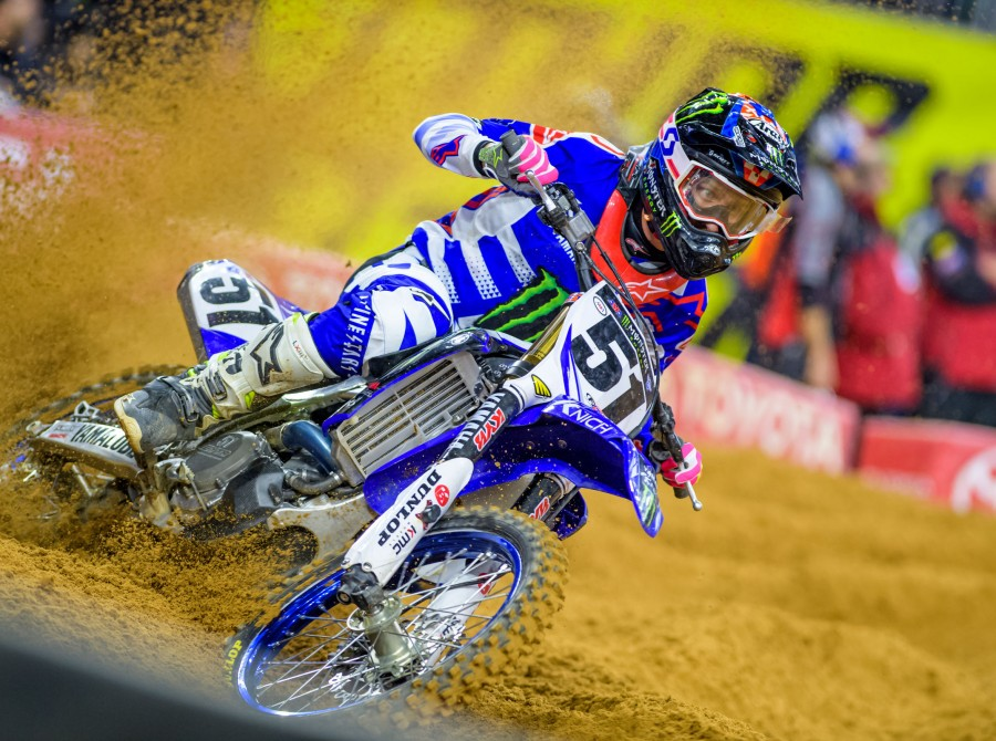 Monster athletes at the 2nd of Supercross in Houston, Texas