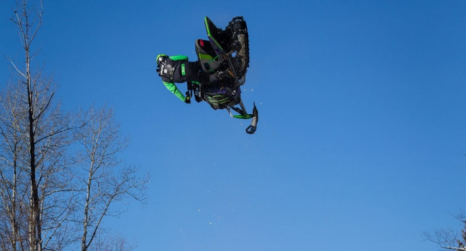 Brett Turcotte training for X-Games in the Turcotte Compound.
