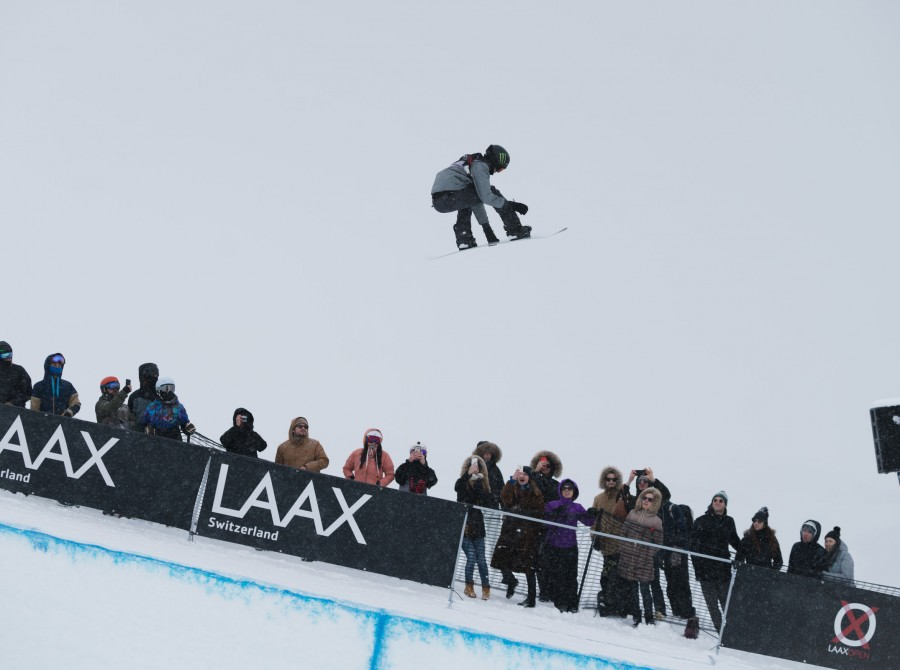 Images from the The Halfpipe contest at the LAAX Open
