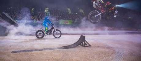 Fred Crosset and Chris Burandt at the Kings of Xtreme in Leipzig.