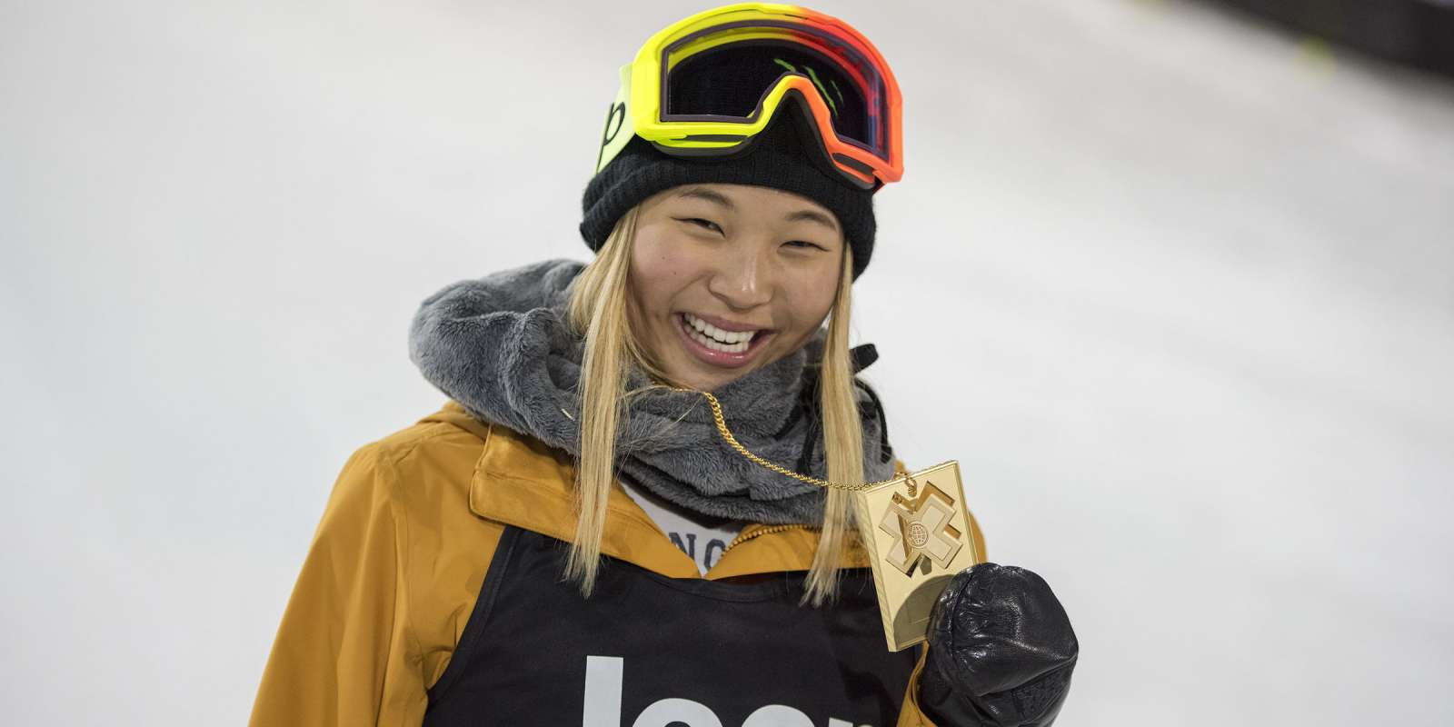Images of Winter X Games Snowboarding.