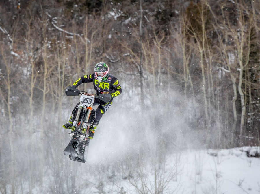Kody Kamm takes the bronze metal at the 2018 Winter X Games Snobike