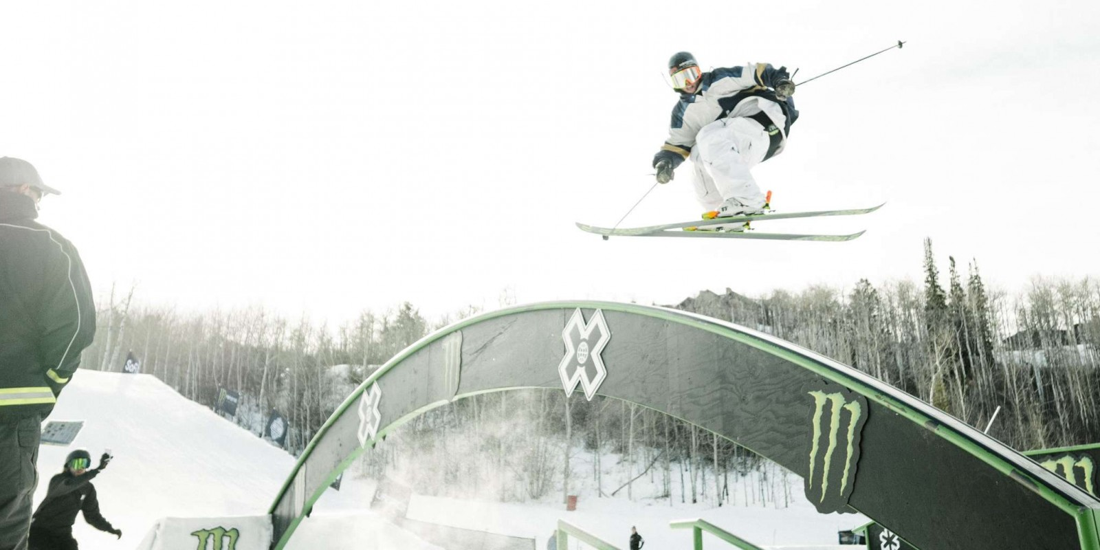 Action shots from the mens slope style
