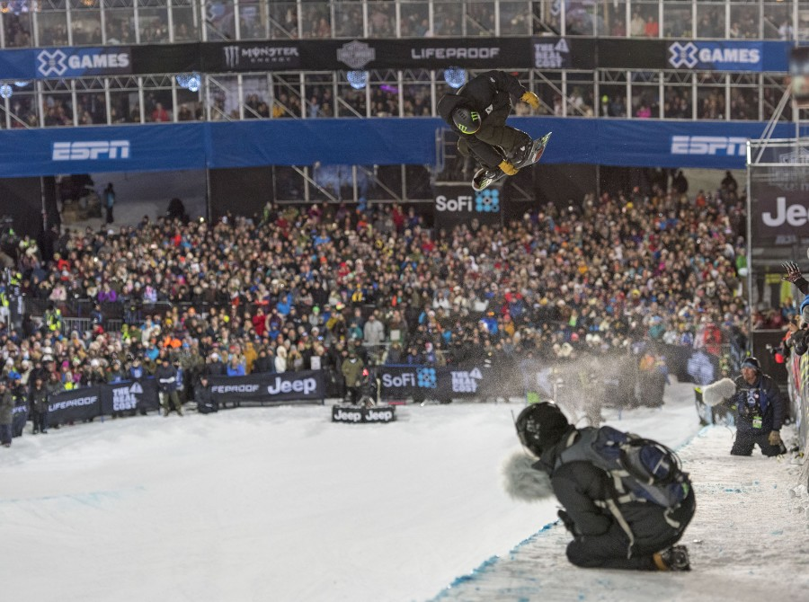 Sunday Snowboard images from Winter X Games, Aspen.