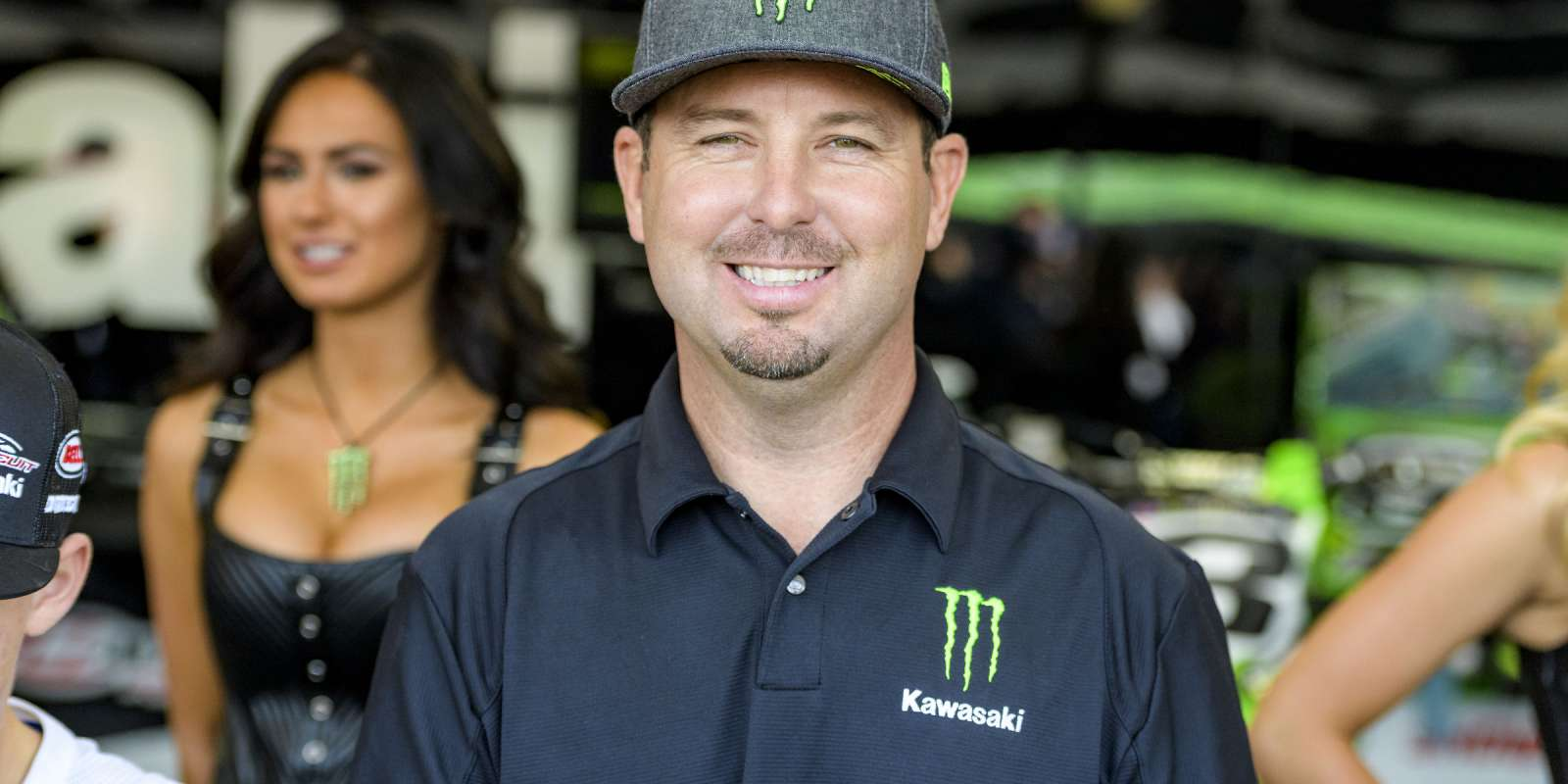 Jeremy McGrath at the first stop of the 2017 Supercross season in Anaheim, California