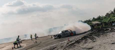 Polish Drift Champs 2017 Round 1 in Warsaw - action in the finals
