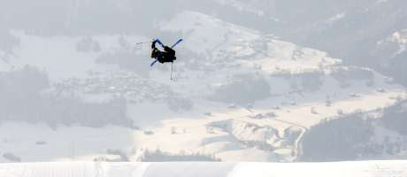 James Woods competing at the European Open in Laax, Switzerland