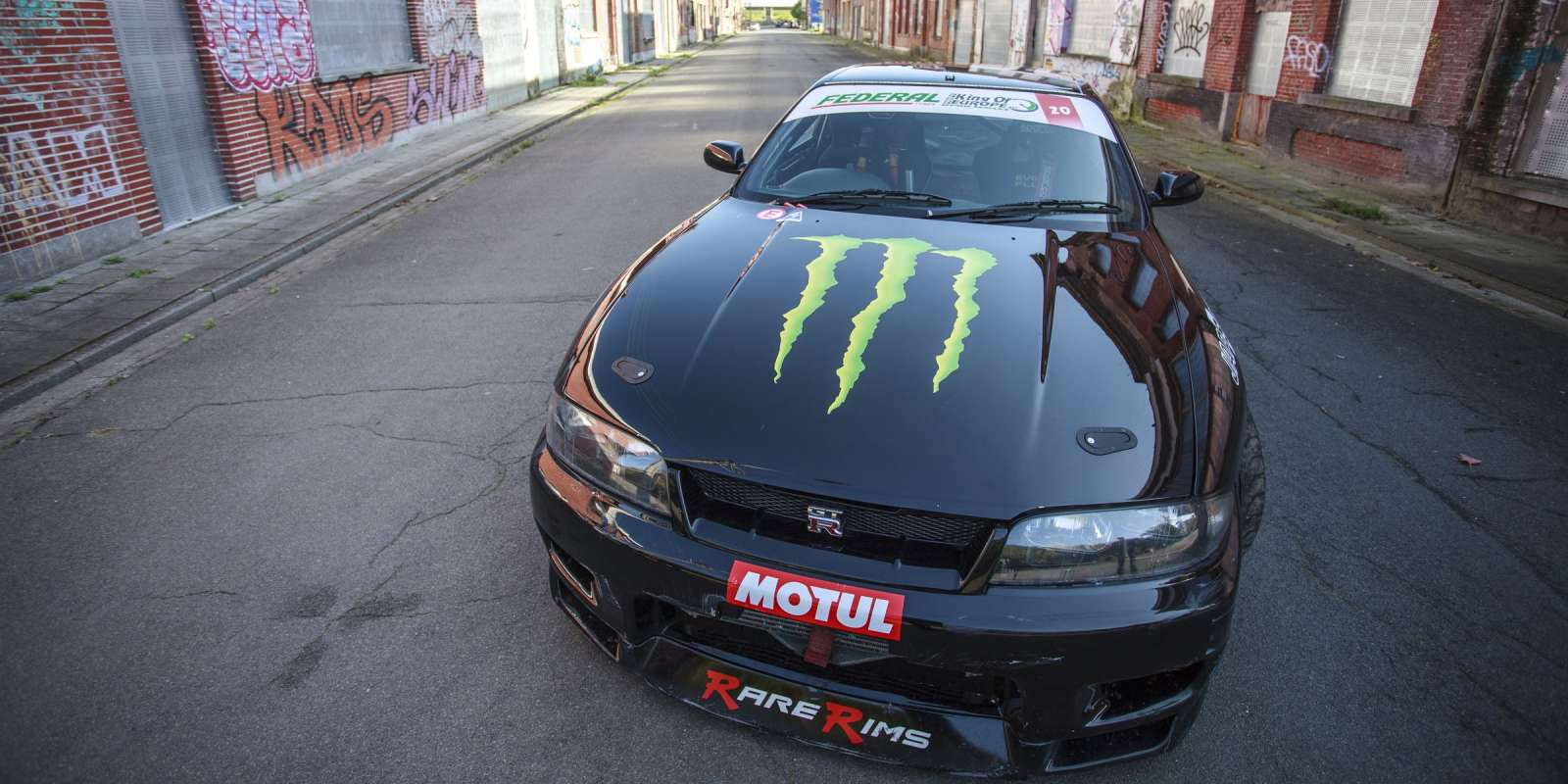 A series of images with Rick van Goethem, his car and Lewis Hamilton/Ultra Citron promotional taken in Doel, Belgium.