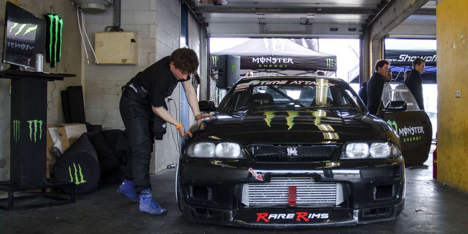 Rick van Goethem participating in the Time Attack races during Automaxx