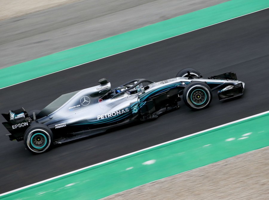 Images from the first round of pre-season F1 testing (2018) at Barcelona.