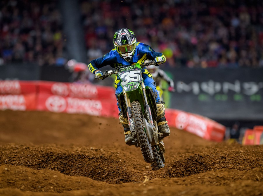 Images from the 2018 Supercross race in Atlanta, GA at the Mercedez Benz Stadium