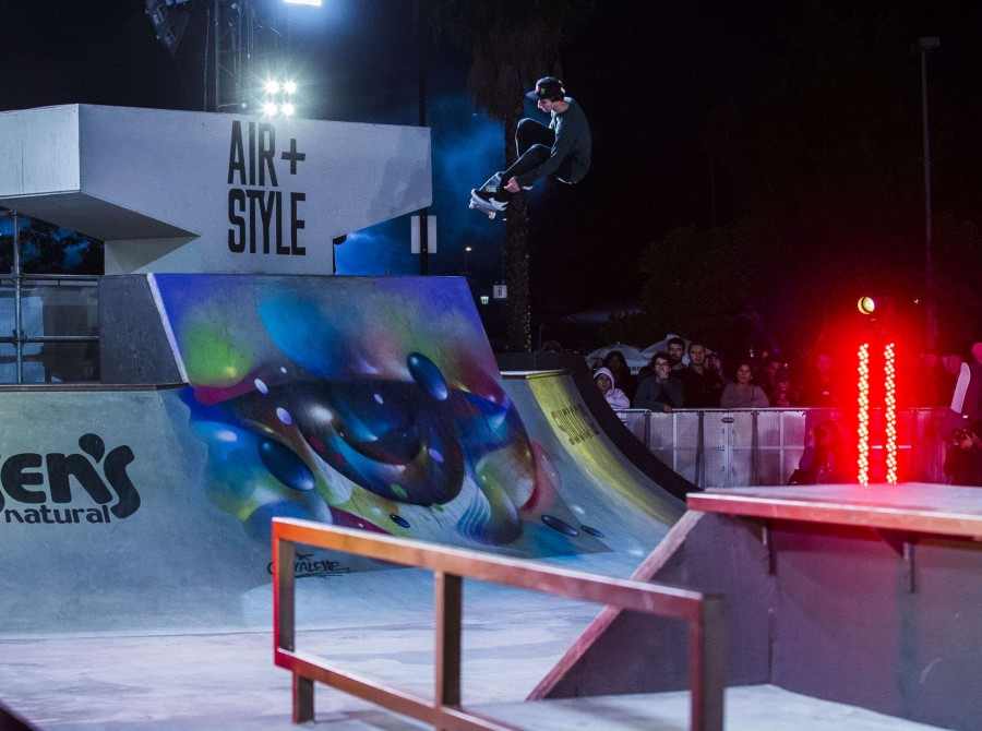 Skateboarding images from Air & Style, LA