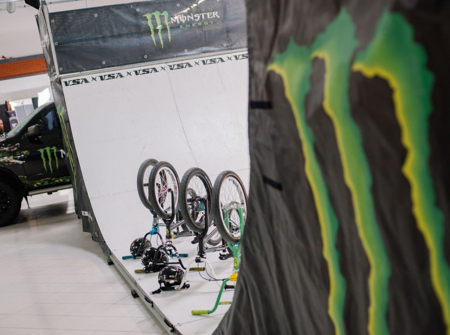 Warsaw Tattoo Days 2018 - a ramp with BMX bikes in the Monster Energy zone