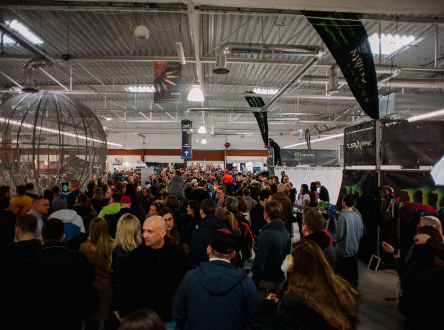 Warsaw Tattoo Days 2018 - a crowd and the Monster Energy zone with a ramp