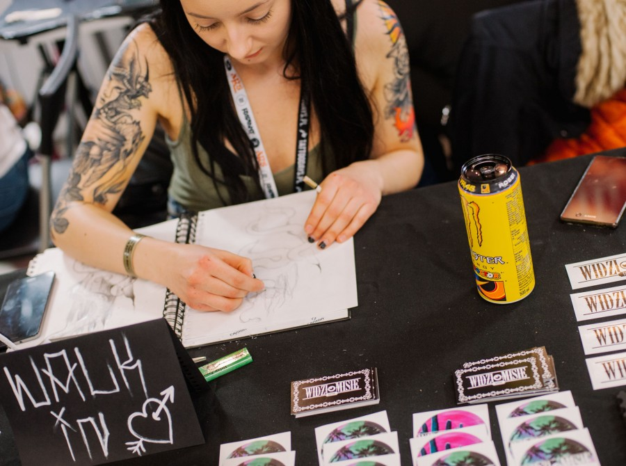 Warsaw Tattoo Days 2018 - one of tattooers' stands