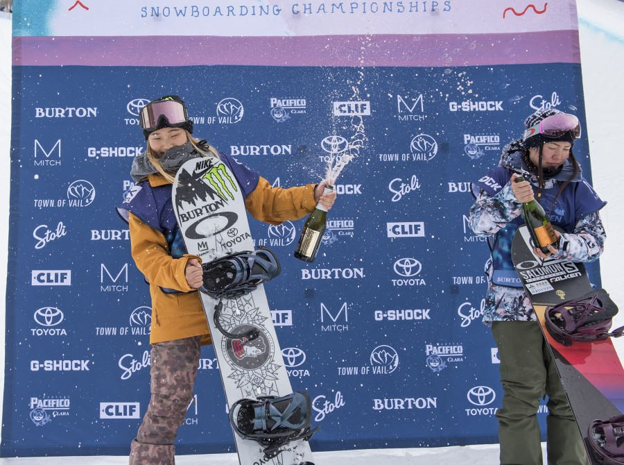 Chloe Kim takes first at the Burton US Open