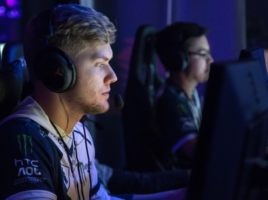 Photos of Team Liquid's CounterStrike team at the iBUYPOWER Masters event at the esports arena in Santa Ana