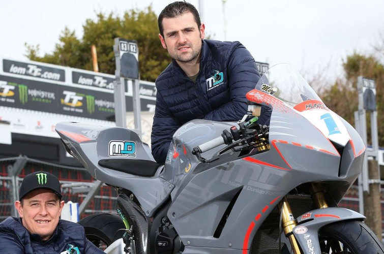 Team release images of Michael Dunlop and John McGuinness with their 2018 Supersport bike