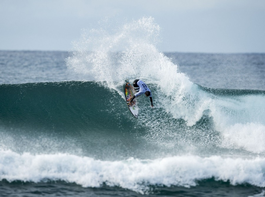 Miguel Pupo on the southeast corner of Australia, just outside of the sleepy surf town of Torquay, sits Bells Beach, which hosts the third stop of the WSL's championship tour, and acts as a catcher's mitt for Southern Ocean swells