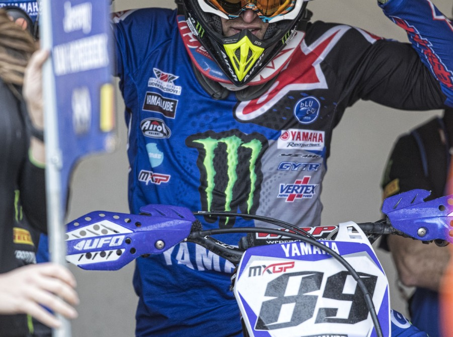 Jeremy Van Horebeek getting ready for 2018 MXGP Trentino, Italy