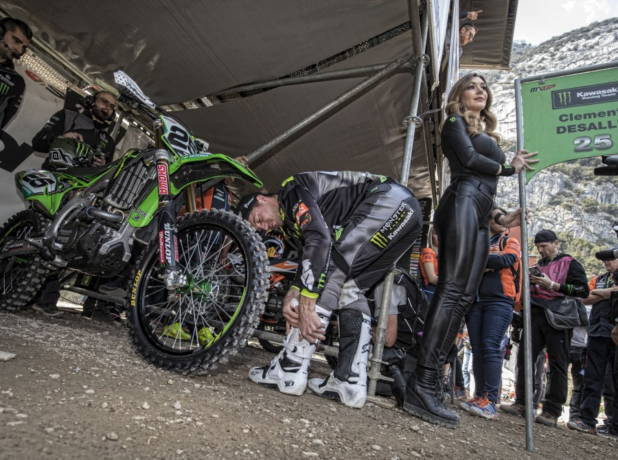 Clement Desalle before the start of 2018 MXGP Trentino