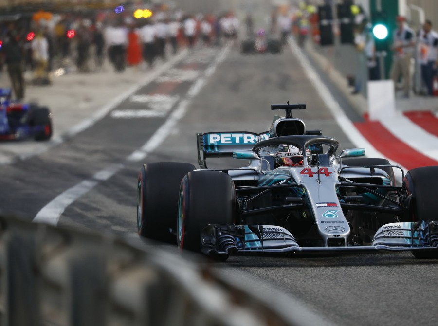 Sunday images from the 2018 Bahrain Grand Prix
