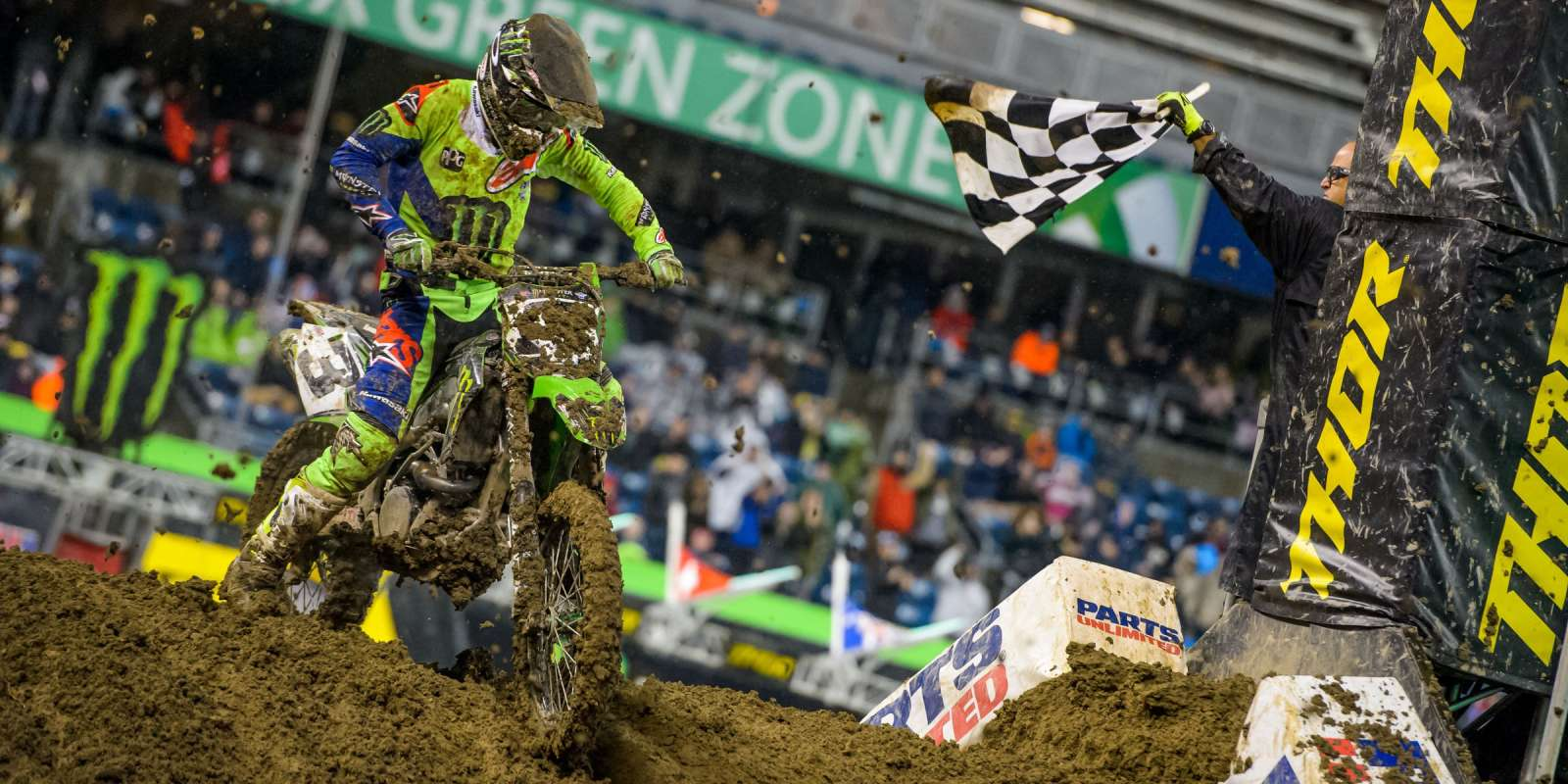 Eli Tomac at the 2018 Supercross stop in Seattle, WA