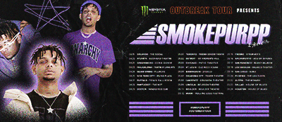Monster Energy Outbreak Tour Hip Hop assets - Smokepurpp