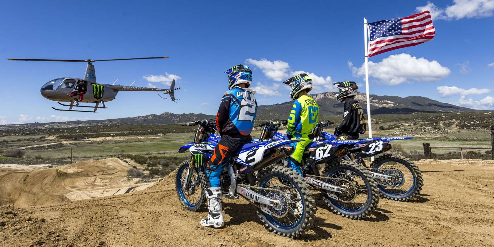 Watch the Monster Energy Yamaha Team- Ryan Villopoto, Aaron Plessinger, and Justin Cooper shred Cahuilla MX track in Southern California.