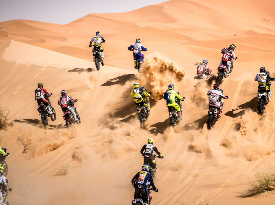 Monster Energy HRC Team at the 2018 Merzouga Rally