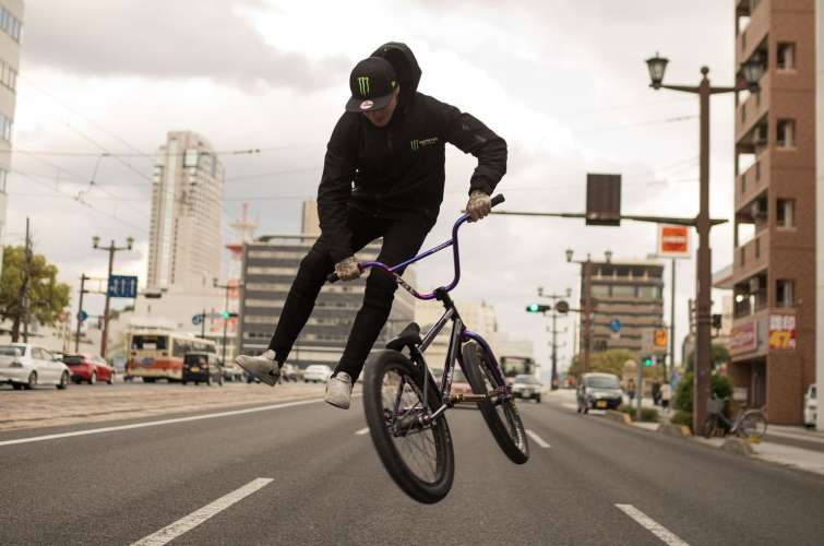 Monster Army/Energy BMX athletes in Hiroshima, Japan