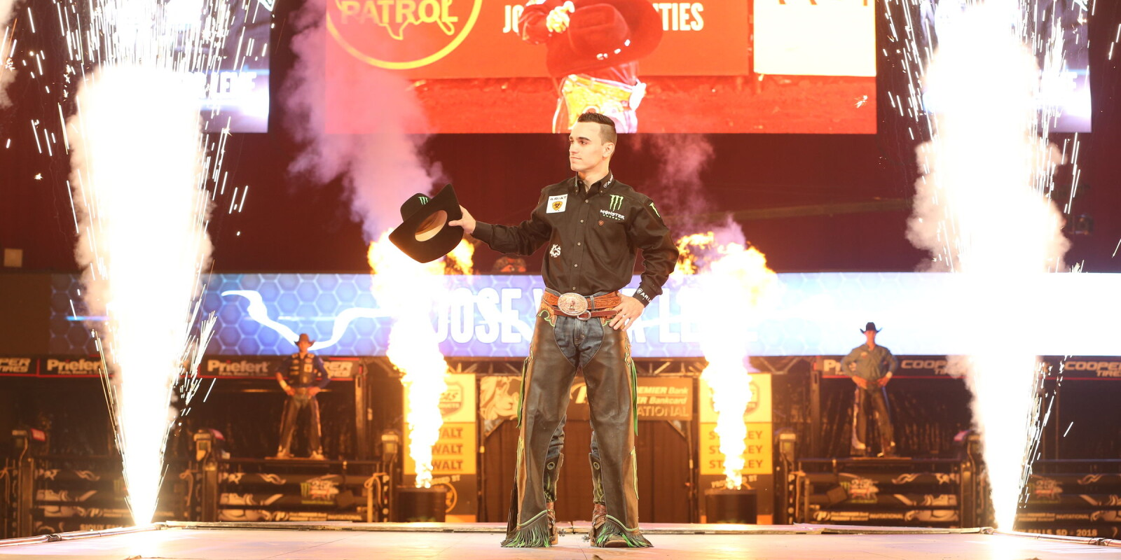 Jose Vitor Leme during the second round of the Sioux Falls PBR 25th Anniversary Unleash the Beast.