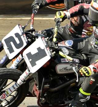 Monster athletes at the American Flat Track Half Mile race at Texas Motor Speedway, Ft.