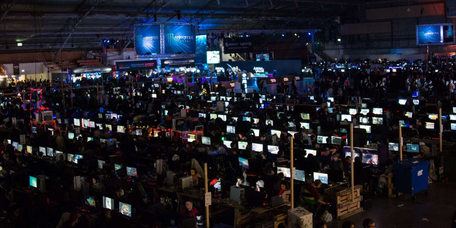 General gaming shots of DreamHack Winter in Jonkoping Sweden