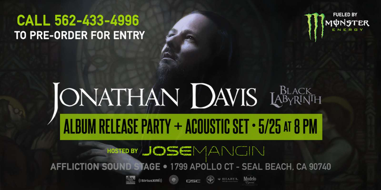 Jonathan Davis album release party asset