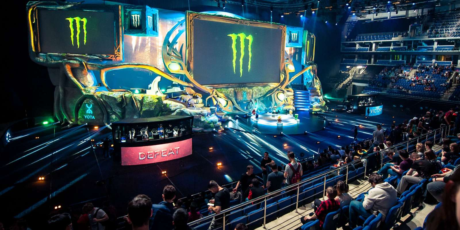 action at the Epicenter XL Dota 2 event in Moscow