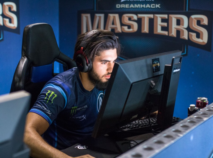 Photos of Team EnVyUs playing Counter-Strike: Global Offensive at DreamHack Masters in Marseille, France