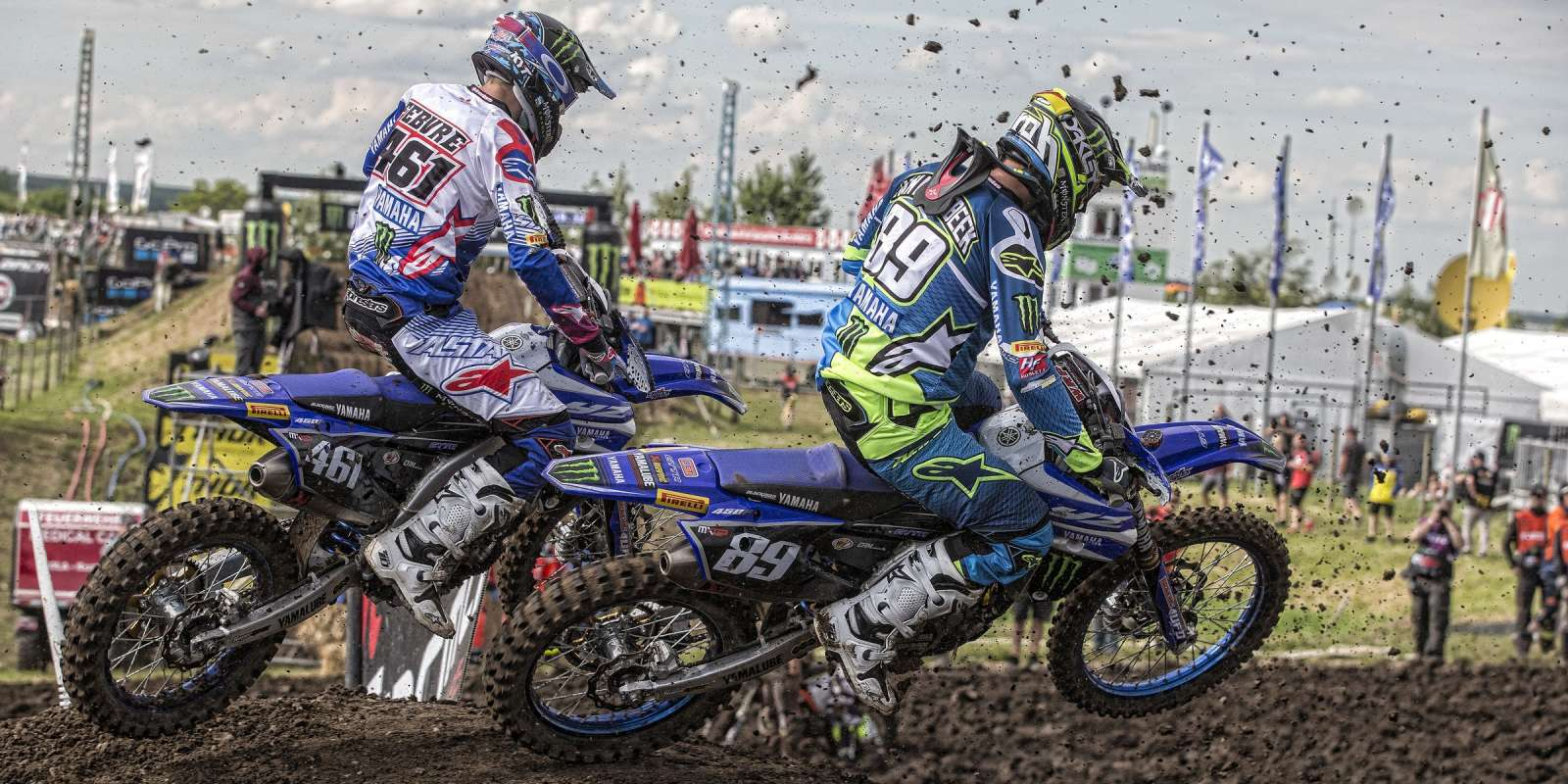 Romain Febvre & Jeremy Van Horebeek at the 2017 Grand Prix of Germany