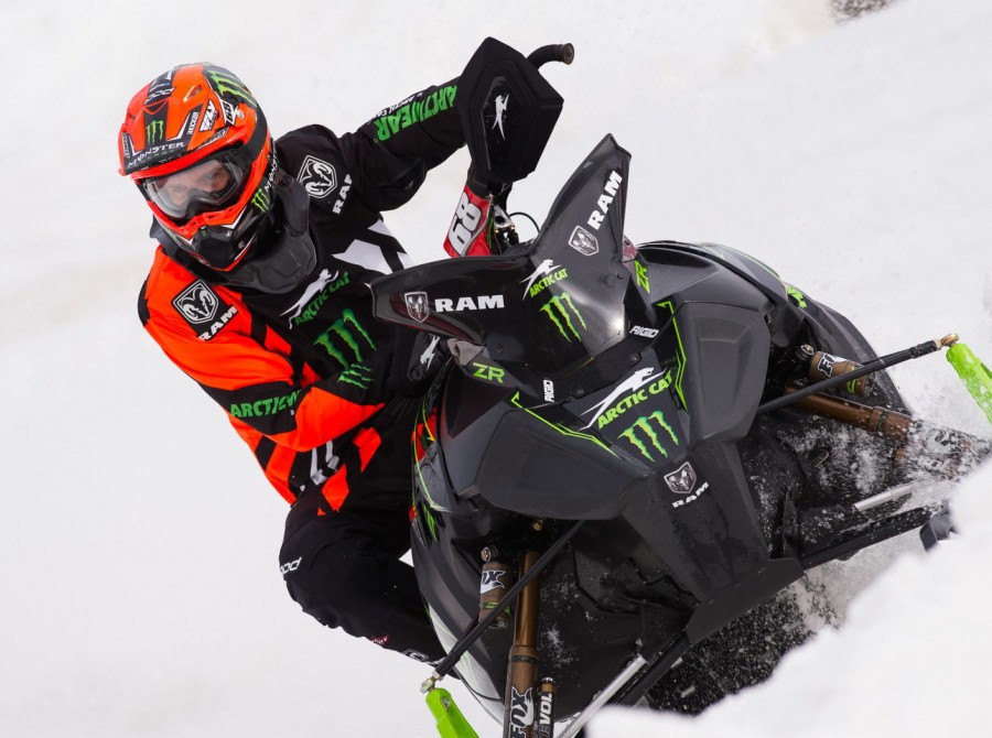 Images of Tucker from the final snocross event of the season in Lake Geneva, Wisc. where Tucker clinched his 11th national title